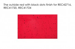 Red with Black Dots Outside Finish