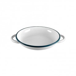 WH4222-Ragout Plate White with Handle 22CM