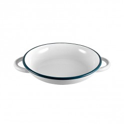 WH4224-Ragout Plate White with Handle 24CM