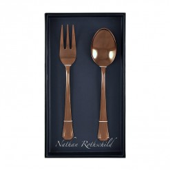 NR200RG-NR Grecian Serving Fork & Spoon Set Rose Gold-01