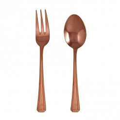NR200RG-NR Grecian Serving Fork & Spoon Set Rose Gold-02