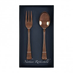 NR202RG-NR Tudor Serving Fork & Spoon Set Rose Gold-01