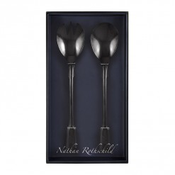 NR205B-NR Spatten Salad Fork & Spoon Set Black-02