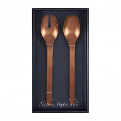 NR206RG-NR Madrid Salad Fork & Spoon Set Rose Gold-02