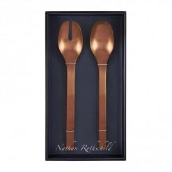 NR206RG-NR Madrid Salad Fork & Spoon Set Rose Gold-02