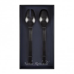 NR207B-NR Madrid Salad Fork & Spoon Set Black-02