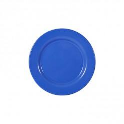 002-JW01DB_Enamel Plate 20cm Dark Blue
