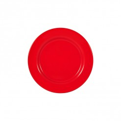 002-JW01R_Enamel Plate 20cm Red