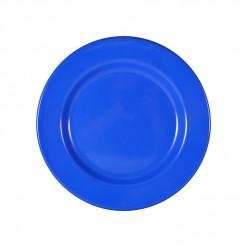 003-JW02DB_Enamel Plate 26cm Dark Blue