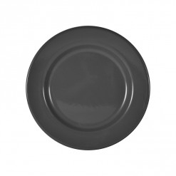 003-JW02GRY_Enamel Plate 26cm Grey