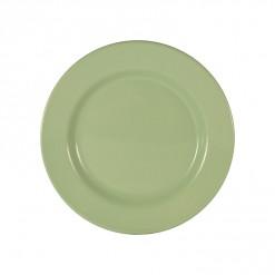 003-JW02P_Enamel Plate 26cm Pistachio