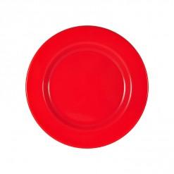 003-JW02R_Enamel Plate 26cm Red