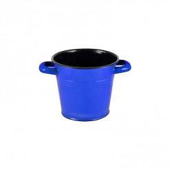 BL132M14-Enamel 1L Bucket with Handles-Blue