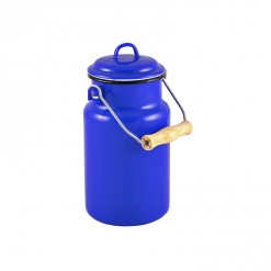 BL77A1-Enamel Milk Vessel 1L-Blue-02