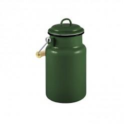 GRD77A1-Enamel Milk Vessel 1L-Dark Green-02