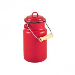 RE77A1-Enamel Milk Vessel 1L-Red-01