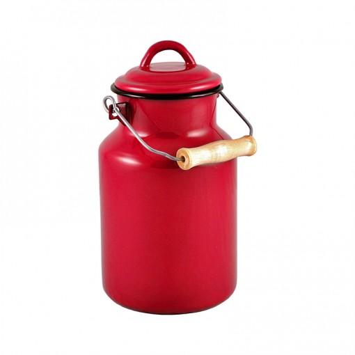 RE77A2-Enamel Milk Vessel 2L-Red-01