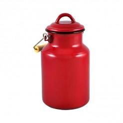 RE77A2-Enamel Milk Vessel 2L-Red-02