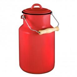 RE77A4-Enamel Milk Vessel 4L-Red-02