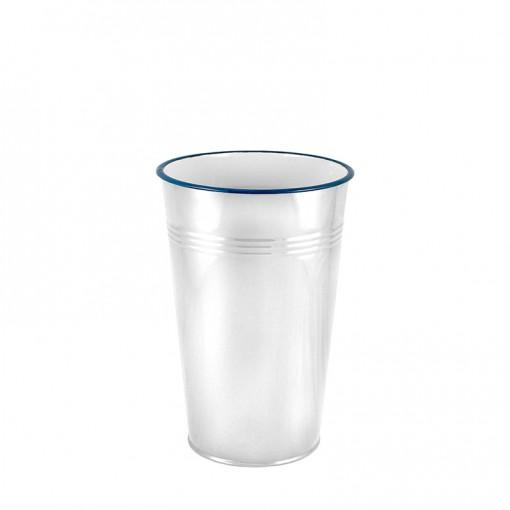 WH17830-Enamel 30CM Dutch Vase-White