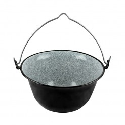 BLK10334-Country Style Bowl&Pot 34CM Black