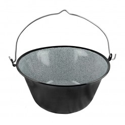 BLK10344-Country Style Bowl&Pot 44CM Black