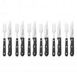 PS03-Pegasus Sabastier 12 Pce Deluxe Steak Knife & Fork Set-02