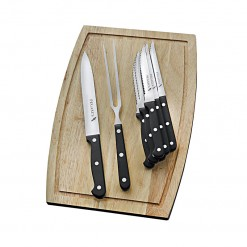 PS21-Pegasus Sabatier 9 Pce Carving Set & Steak Knife Set